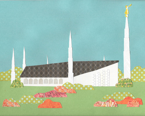 Boise Temple Collage digital download