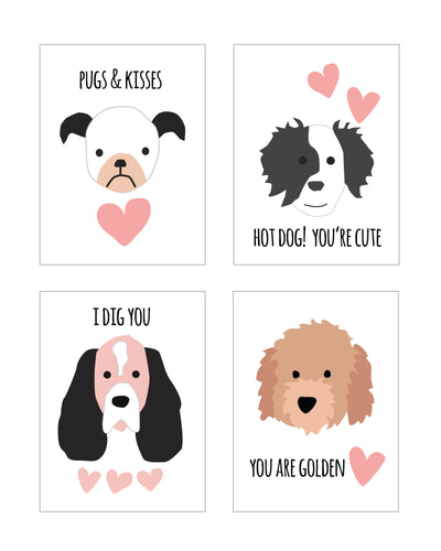 Pink Puppy Dog Valentines