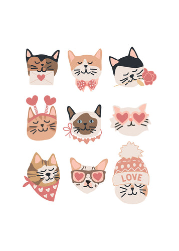 Valentine Kitty Cat posters