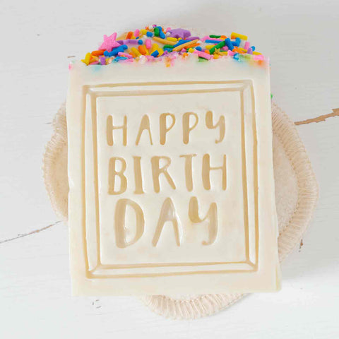 Happy Birthday Soap by Letterpress Soap