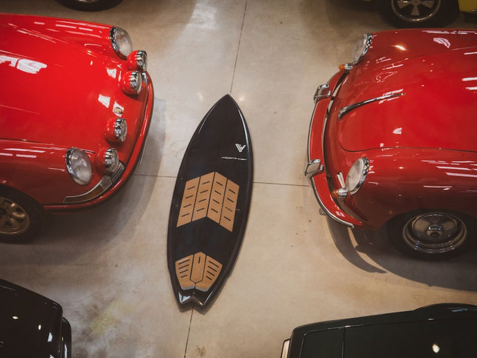 Classic Porsches and beautiful surfboards