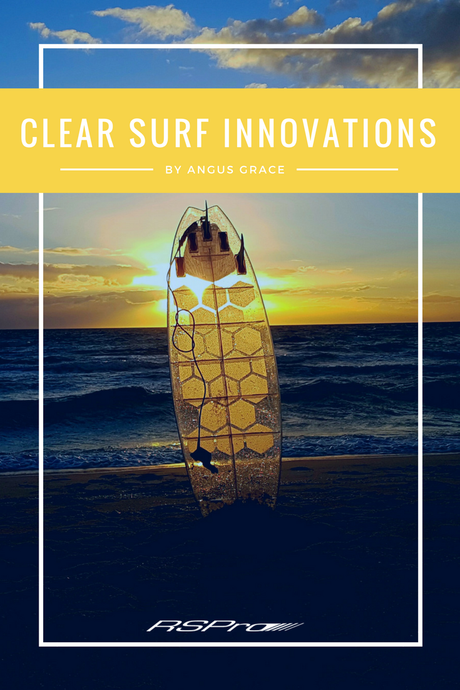 Fully transparent surfboard thanks to HexaTraction