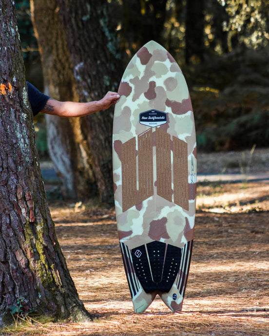 Camo Fish waxless surfboard