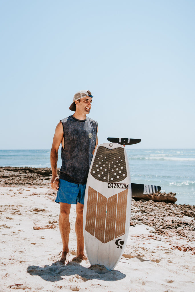Shannon Stent, larryfoiler team RSPro member with his board