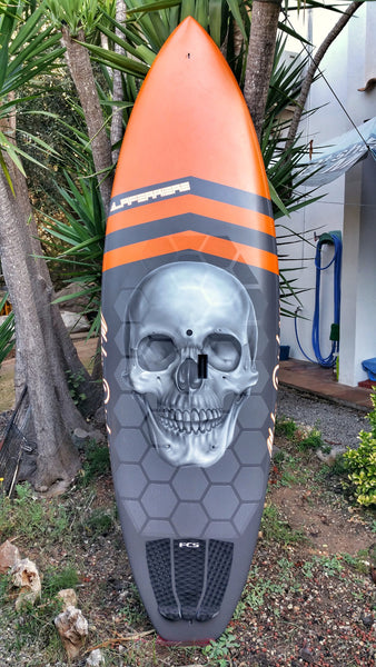 Full SUP surf board custom with Hexa Traction