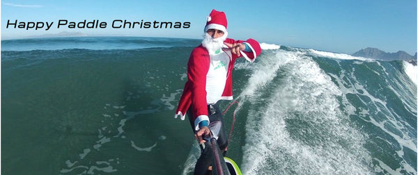 Santa Claus paddles and uses Rail Saver PRO