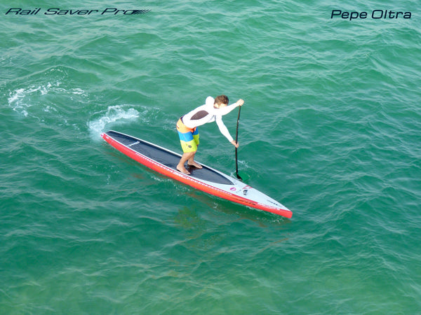 SUP racing paddler Pepe Oltra from Rail Saver PRO