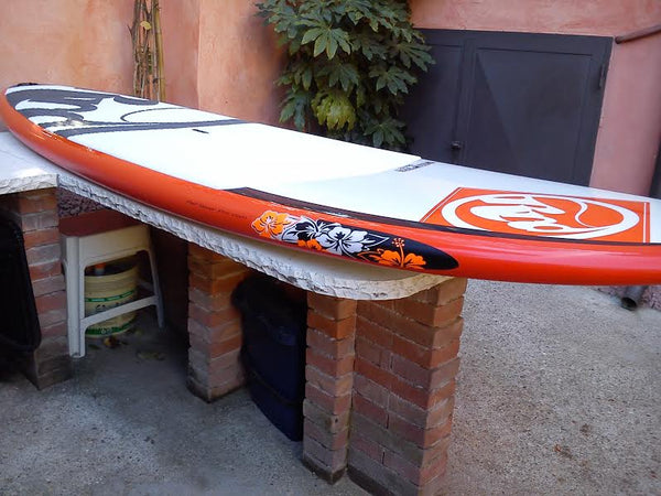 Protect your board beautifully with Hibiscus rail saver pro