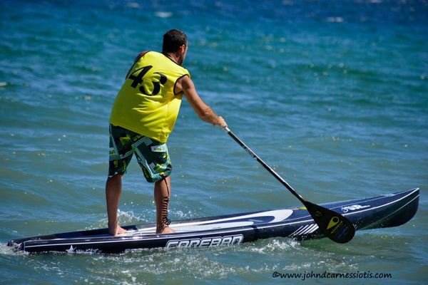 SUP racing with Rail Saver PRO in Greece