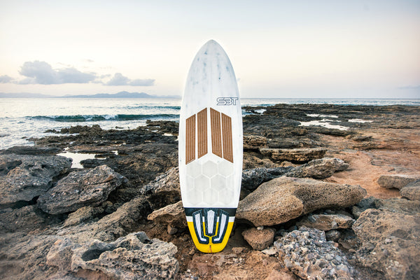 Sailboards Tarifa waxless surfboard with HexaTraction and Front Deck Grip