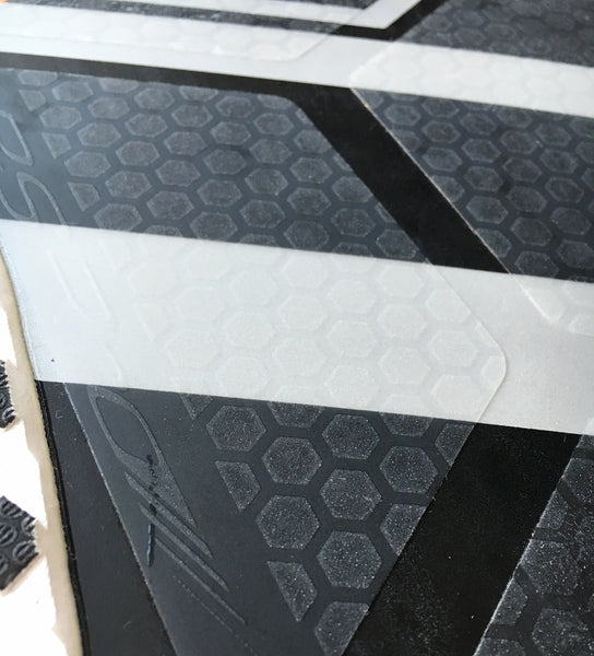 SUP Boarder magazine tested the real transparent board grip and traction: HexaTraction