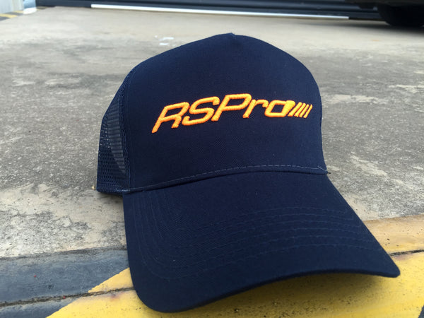teamRSPro cap in blue and orange logo