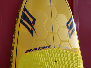 HexaTraction on the nose of a Naish SUP board