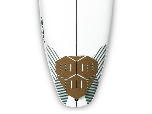 RSPro Hexa Tail tail pad on a DHD 3DV surfboard