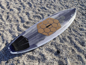 RSPro cork Front Deck Grip Hexa on a SUP surf board
