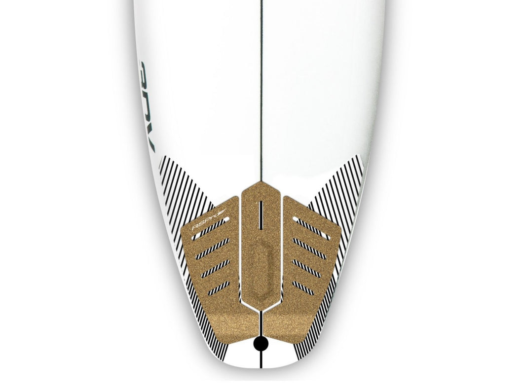 RSPro sustainable performance Tail Grip detail on a surfboard