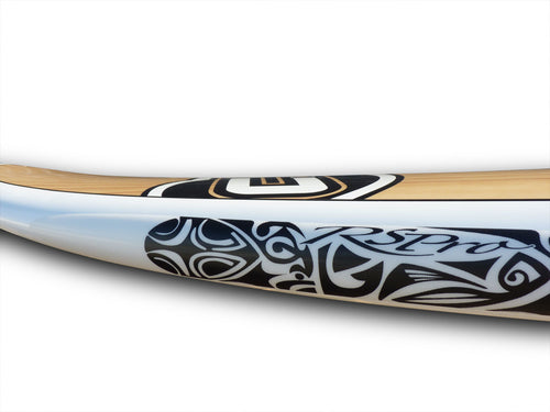 Logo detail of the Tatau RSPro SUP rail saver