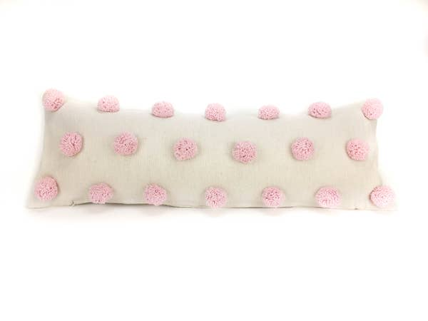 Pretty In Pink Pom Pom - Lumbar