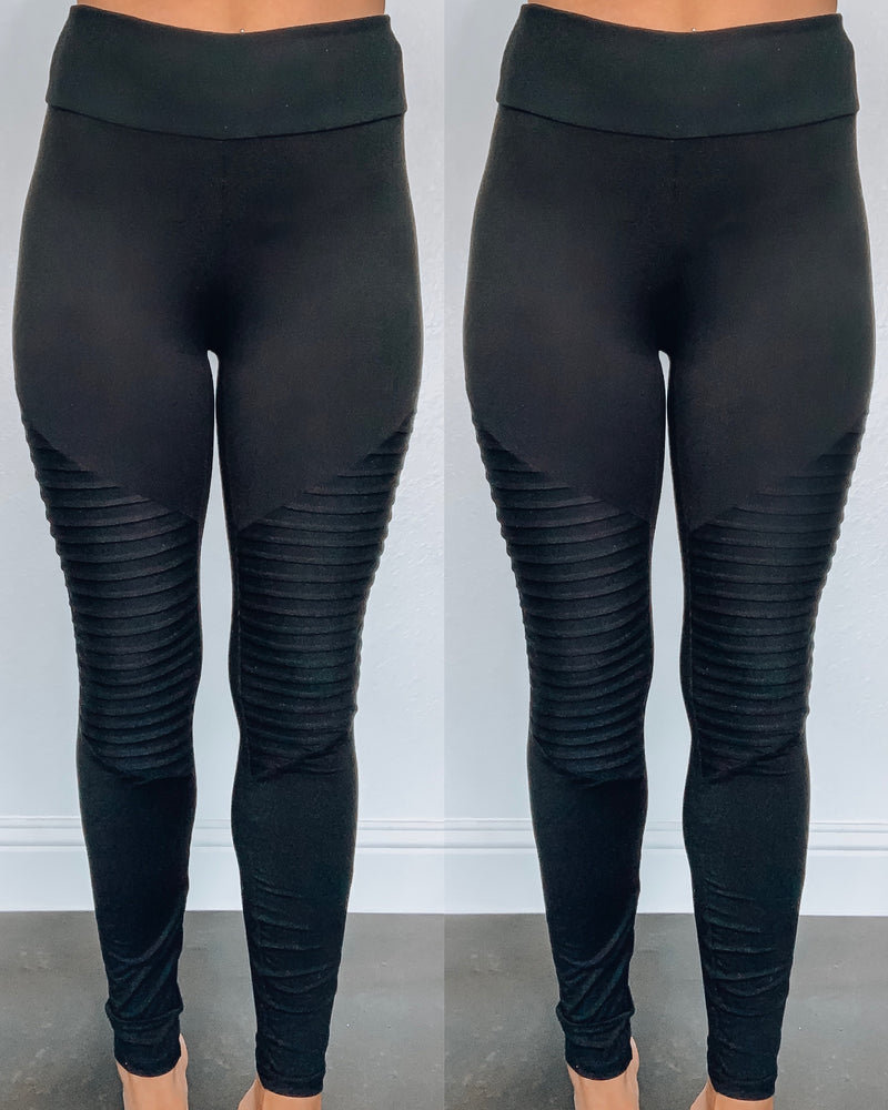 The Original Black Moto Leggings