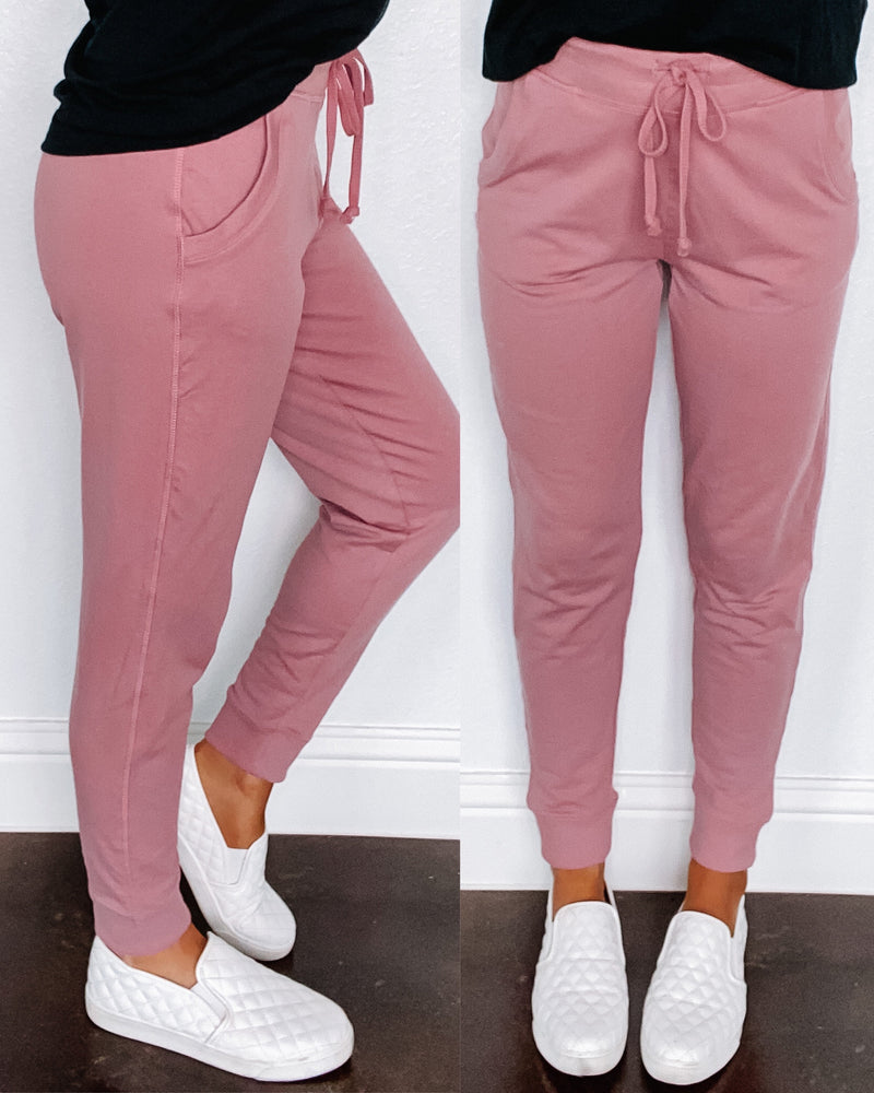 Casual Crush Joggers - Mauve