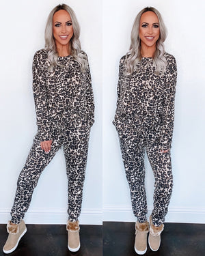 Leopard Sweatpants Set