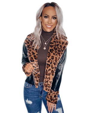 Wild Ways Leopard Faux Leather Jacket