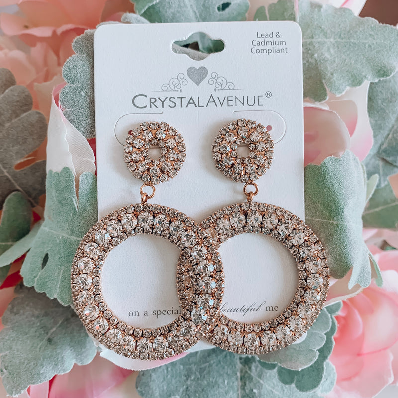 Match Made in Heaven Crystal Earrings - Gold