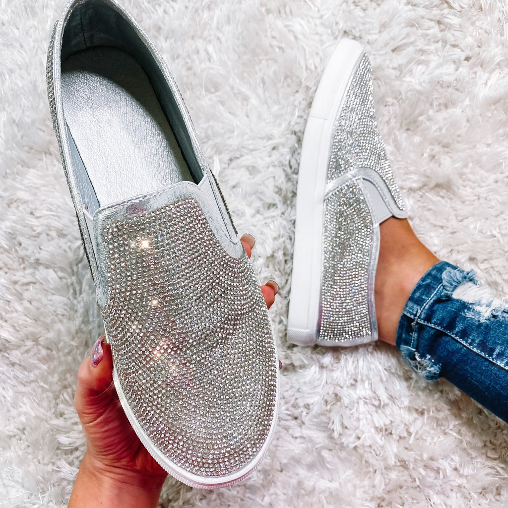 Dream & Gleam Slip On Sneakers - Silver