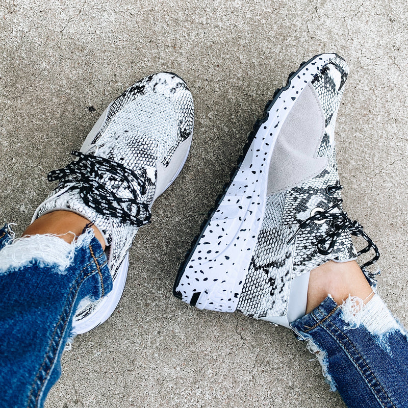 Goal Digger Tennis Shoes - Grey/Snake
