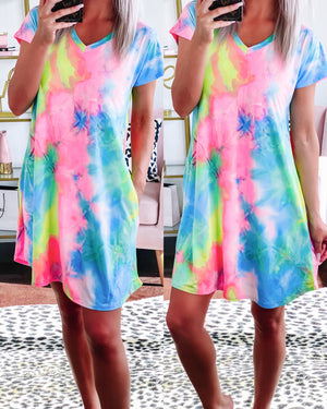 Perfect Getaway Tie Dye Dress