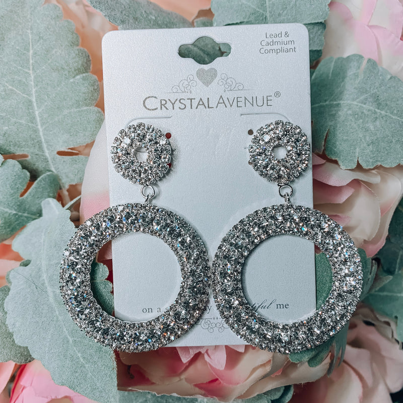 Match Made in Heaven Crystal Earrings