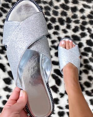 Dream Glitter Sandals - Silver {Bombdeal}