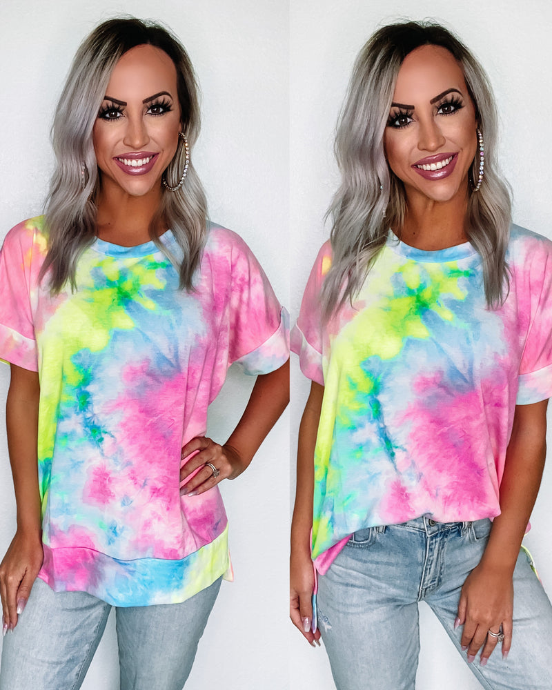 Candy Crush Tie Dye Top