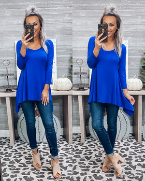 Carrying Your Love With Me Tunic - Royal Blue {BombDEAL}
