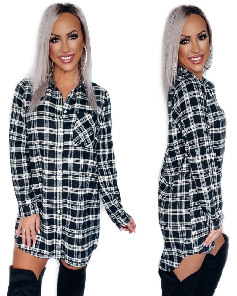 Campfire Flannel Tunic Dress