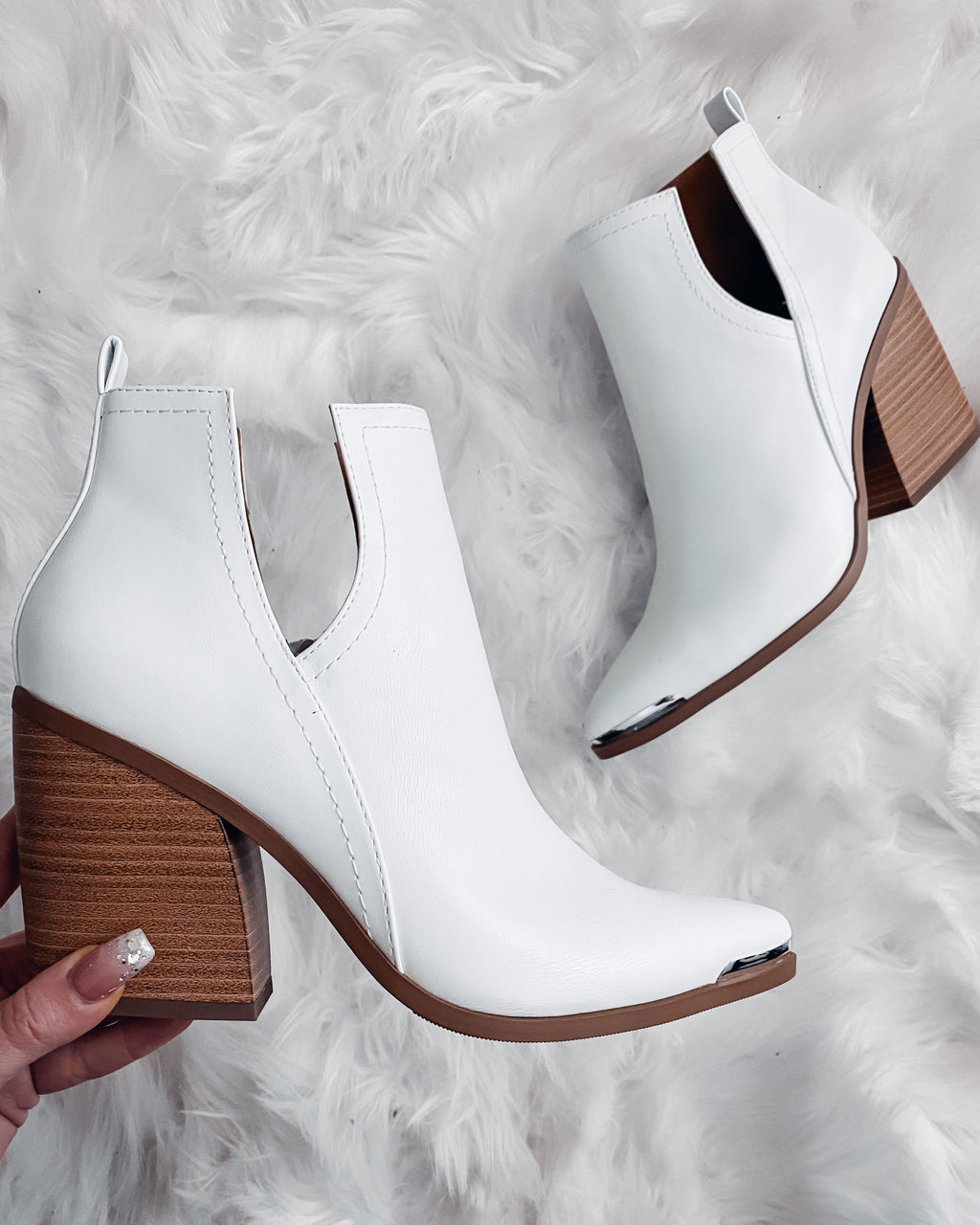 Brighton Booties - White