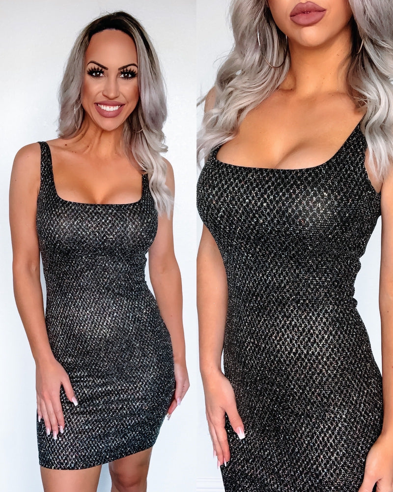 All The Glitters Mini Dress