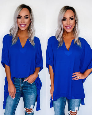 Free to Dream Blouse - Royal Blue