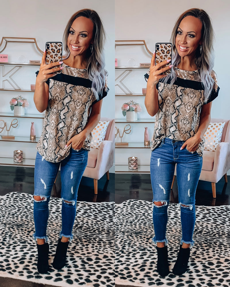 Sequin Snake Top