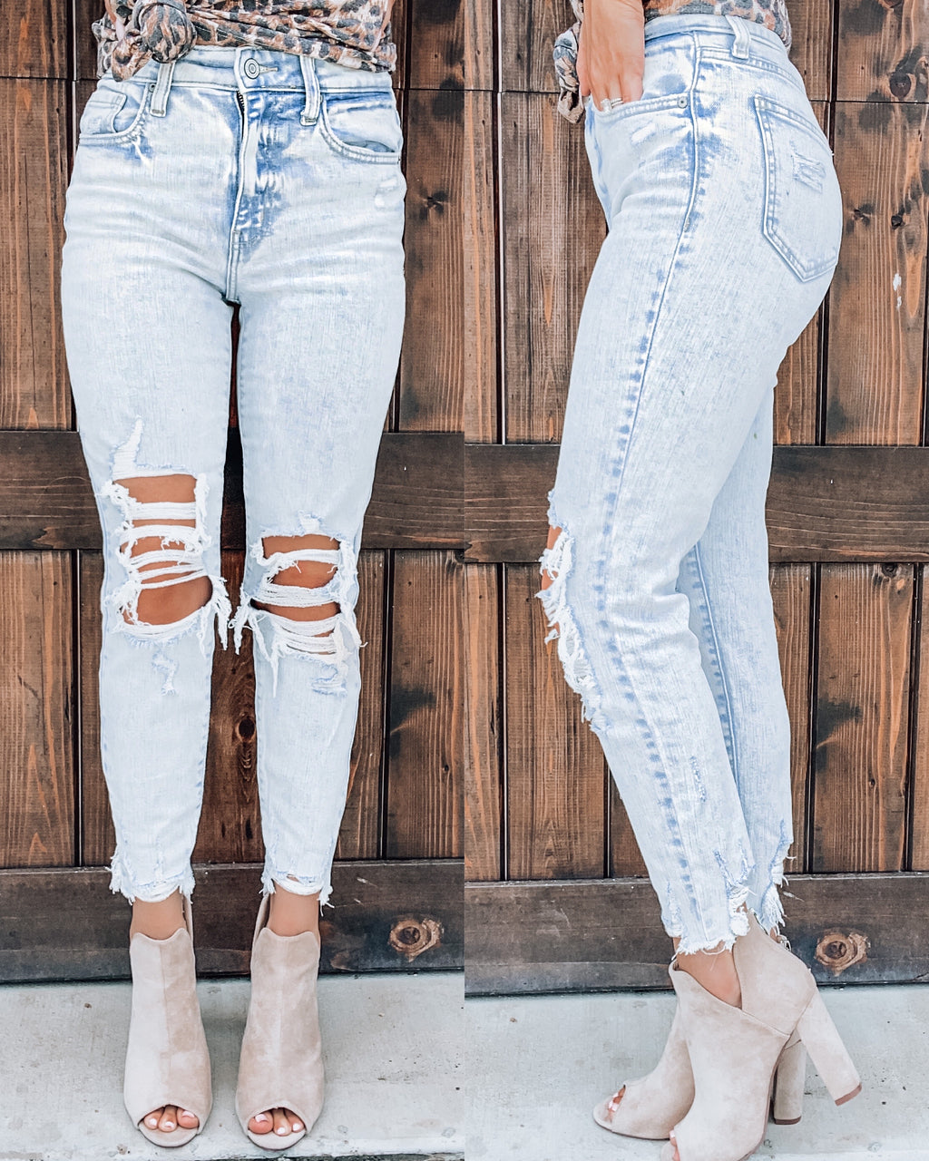 Keeper Distressed Crop Skinnies
