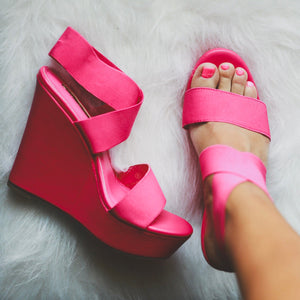 Lust Wedges - Fuchsia
