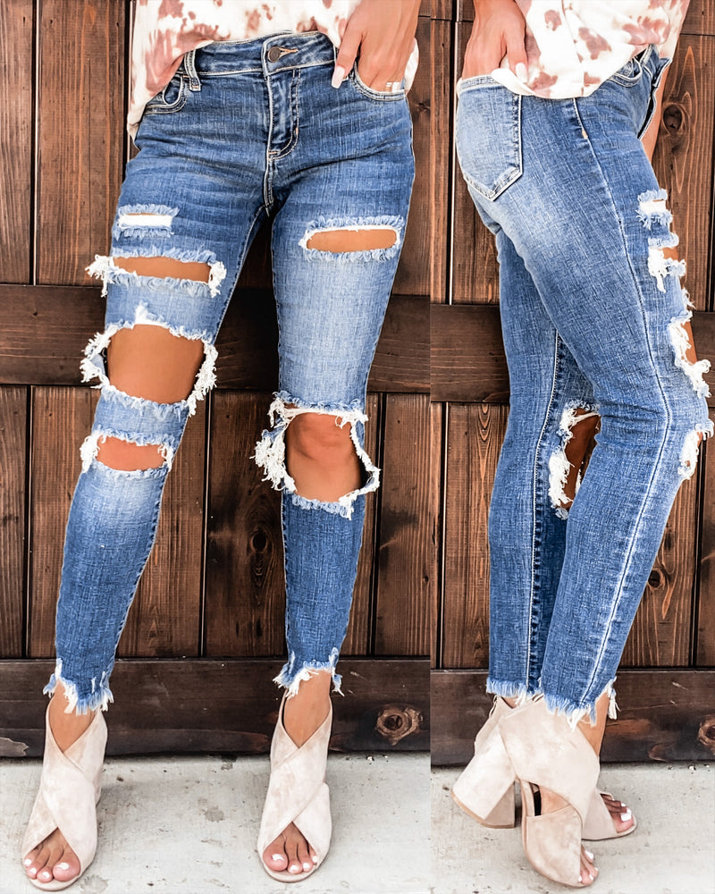 Lexie Distressed Skinnies