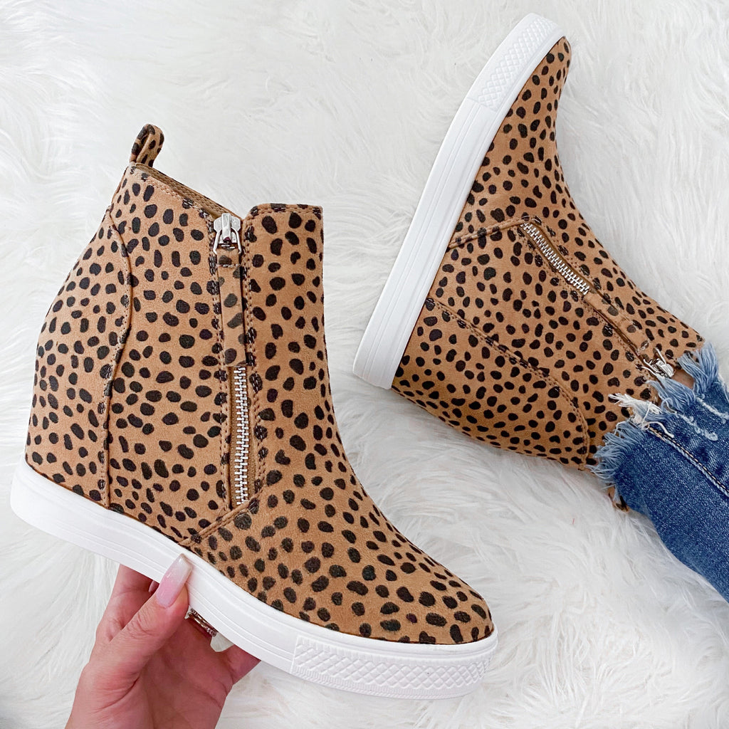 Queen Leopard Wedge Sneakers