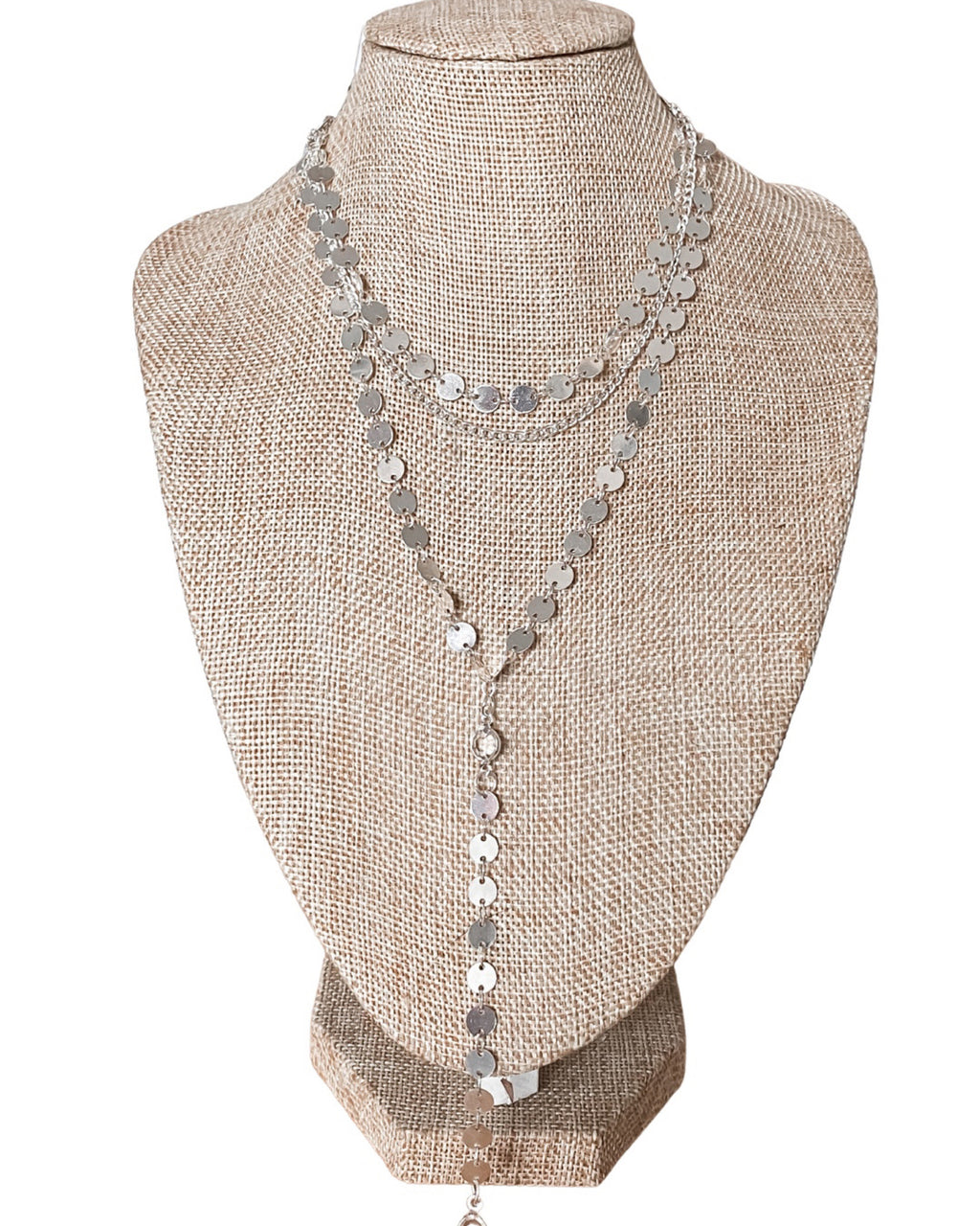 Zoey Layered Necklace - Silver