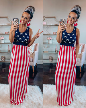 Party In the USA Maxi Dress