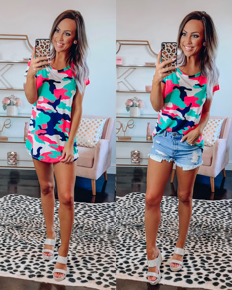 Neon Army Top