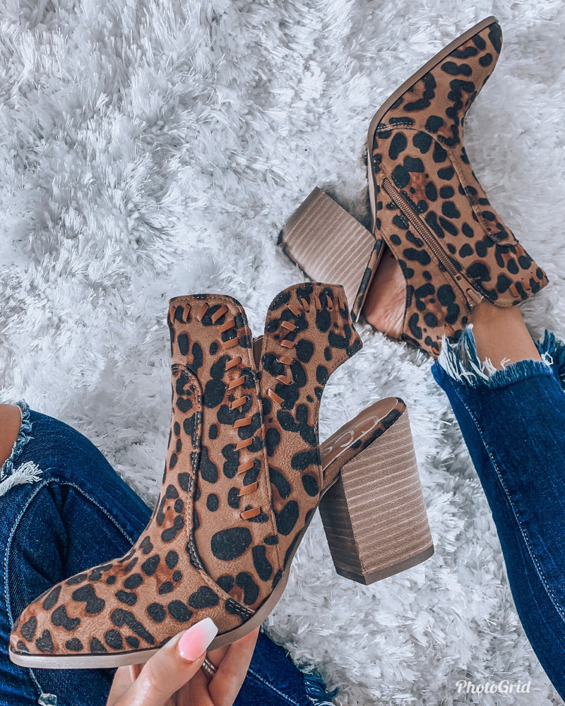 Luck Leopard Booties