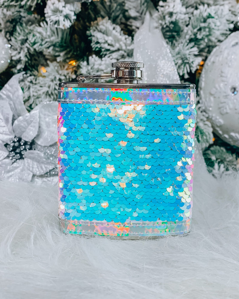 Mermaid Sequin Flask