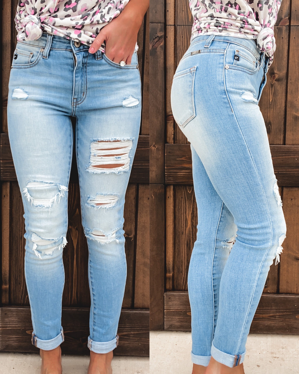 Audrey Distressed Skinny Jeans