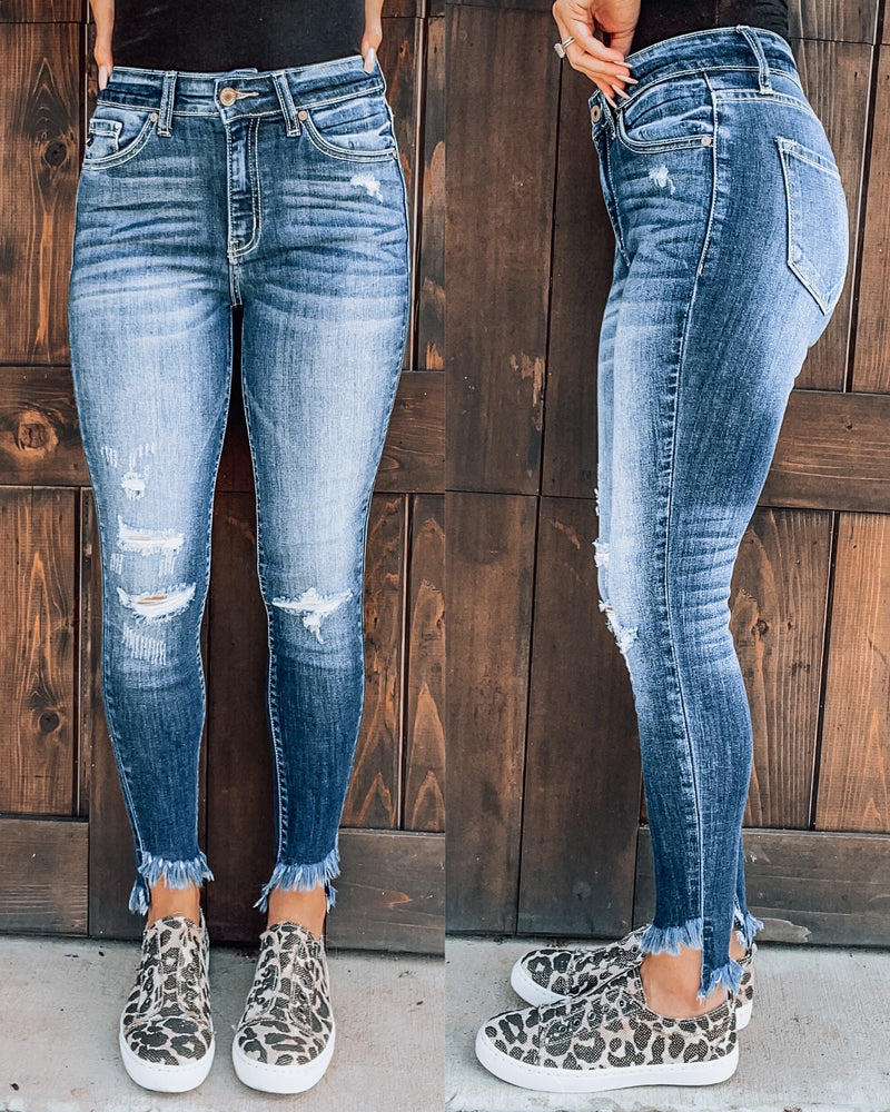 Clair Frayed Skinny Jeans